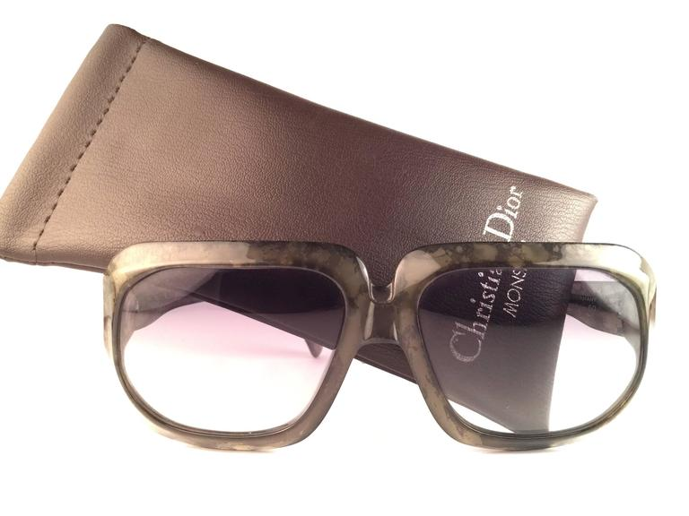 New Vintage Christian Dior Monsieur 2024 60 SunglassesGreen Marbled Sunglasses 2