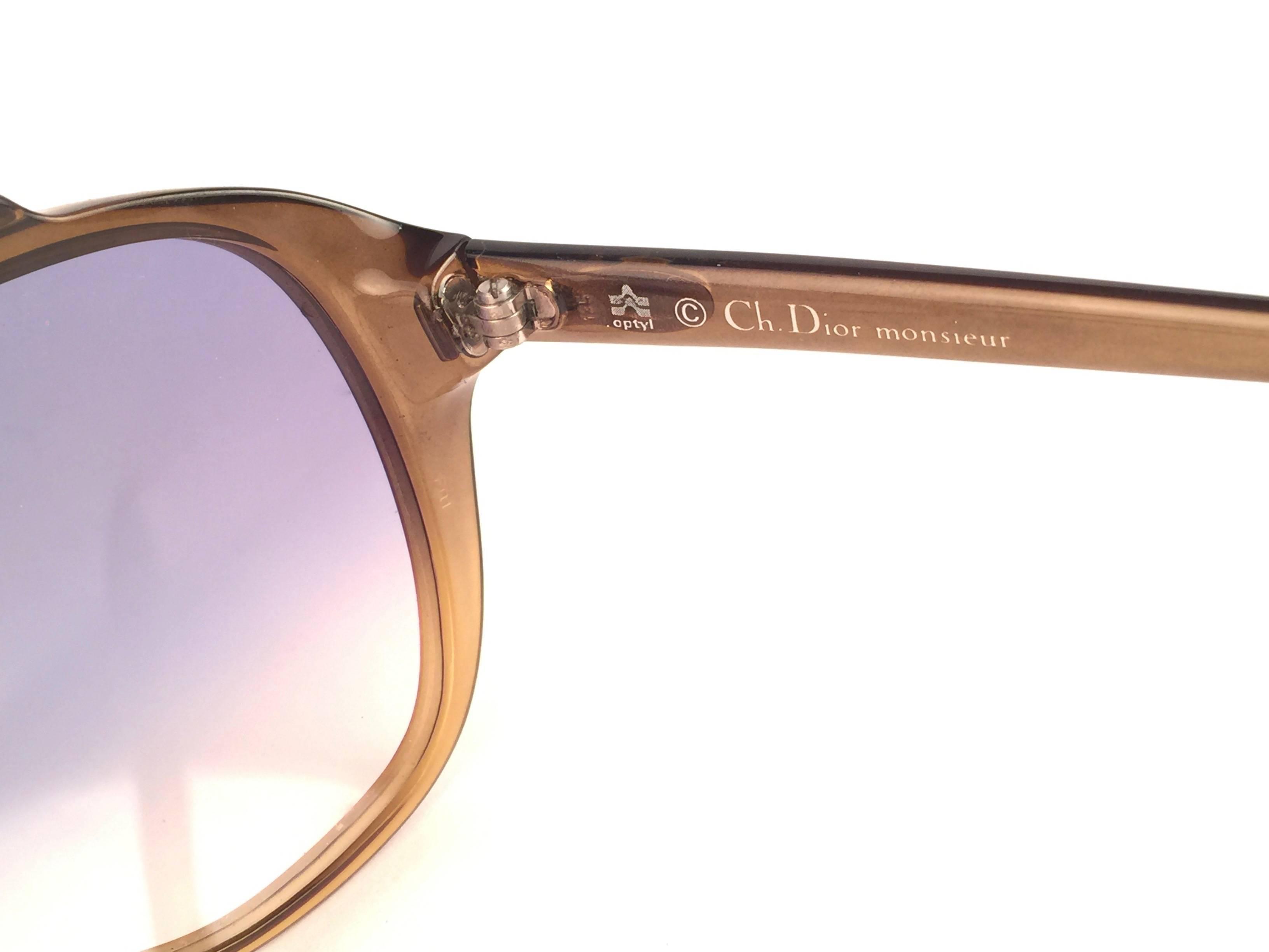 28ef2981e75 New Vintage Christian Dior Monsieur 2059 20 Blue Gradient 1970 Sunglasses  at 1stdibs