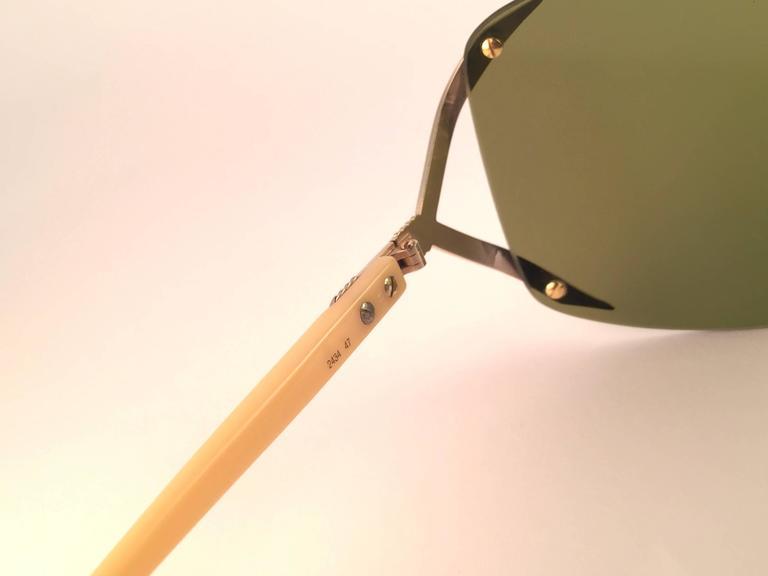 New Vintage Christian Dior 2434 47 Shield Optyl 1970 Sunglasses 6