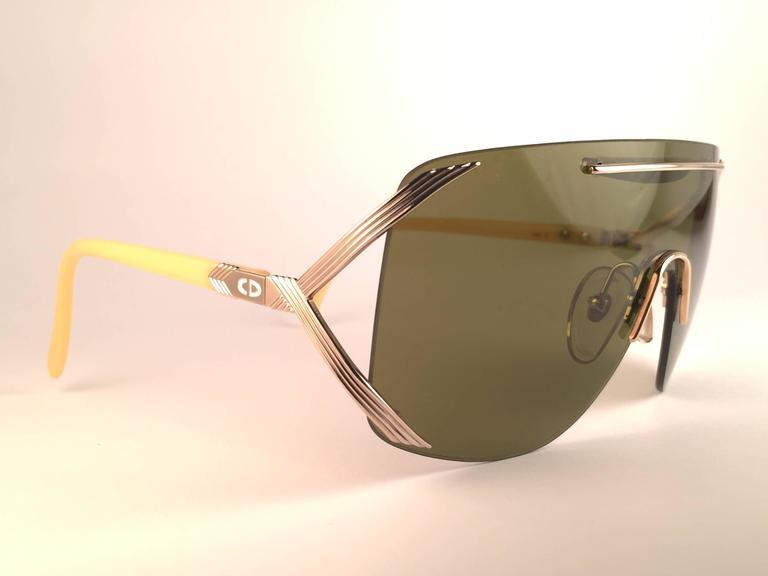 New Vintage Christian Dior 2434 47 Shield Optyl 1970 Sunglasses 2