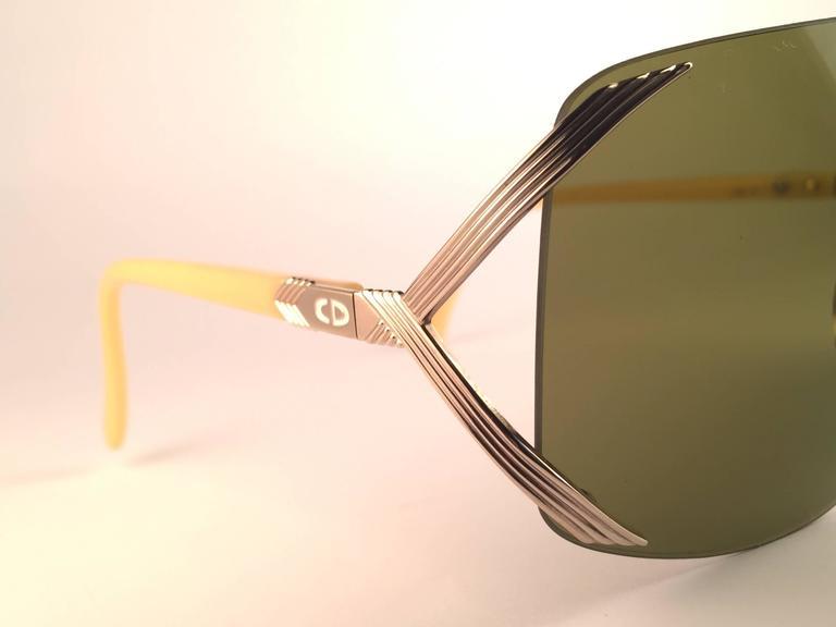 New Vintage Christian Dior 2434 47 Shield Optyl 1970 Sunglasses 4