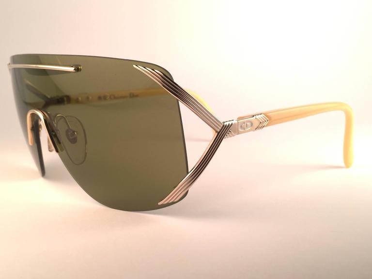 New Vintage Christian Dior 2434 47 Shield Optyl 1970 Sunglasses 3
