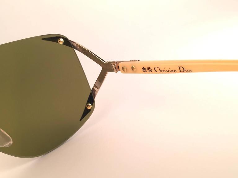 New Vintage Christian Dior 2434 47 Shield Optyl 1970 Sunglasses 5