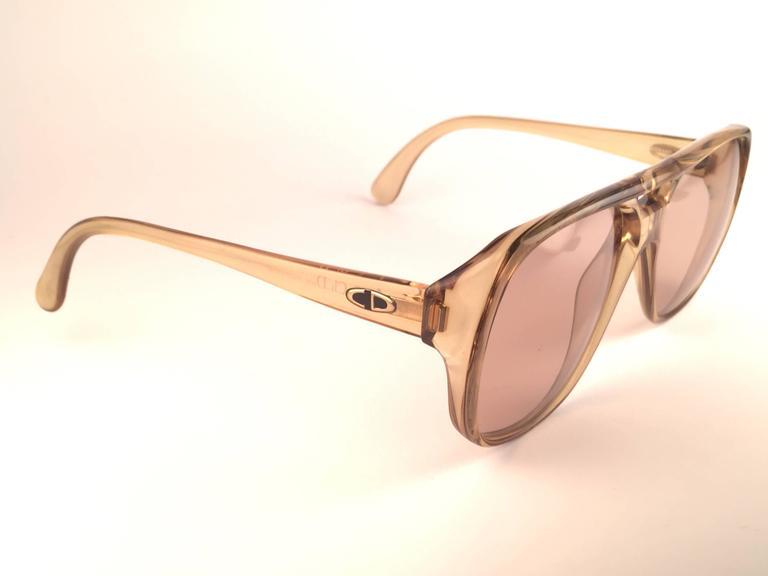 New Vintage Christian Dior Monsieur 2055 20 Light Green Optyl 1970 Sunglasses 4