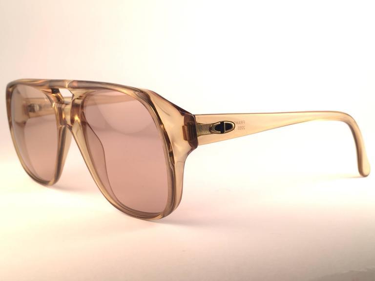 New Vintage Christian Dior Monsieur 2055 20 Light Green Optyl 1970 Sunglasses 3