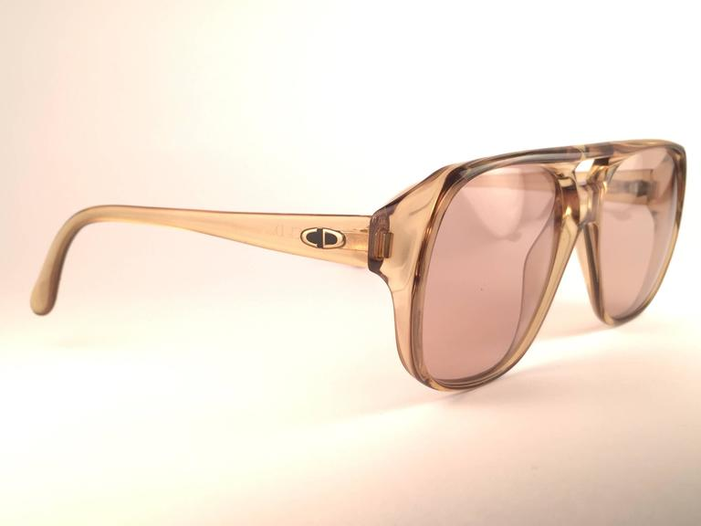 New Vintage Christian Dior Monsieur 2055 20 Light Green Optyl 1970 Sunglasses 2