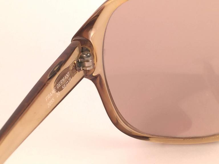 New Vintage Christian Dior Monsieur 2055 20 Light Green Optyl 1970 Sunglasses 6