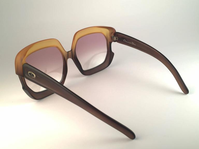 New Vintage Christian Dior 2002 Ombre Amber Brown Optyl Sunglasses Germany 6