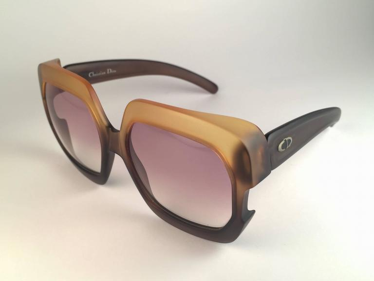 New Vintage Christian Dior 2002 Ombre Amber Brown Optyl Sunglasses Germany 4