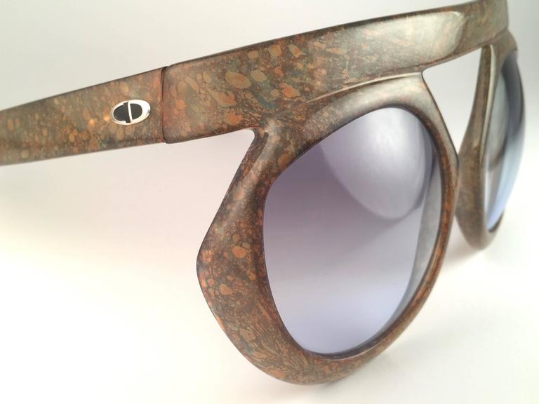 New Vintage Christian Dior 2030 80 Jasper Camouflage Collector Optyl Sunglasses  3