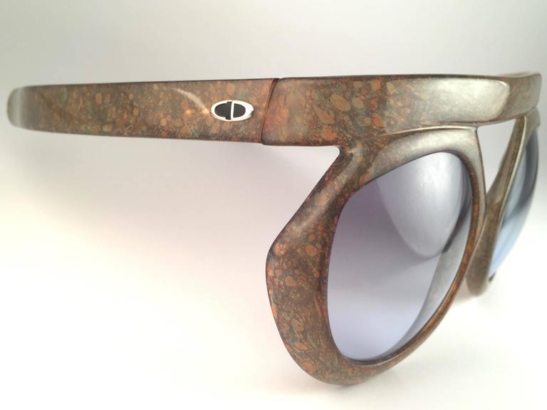 New Vintage Christian Dior 2030 80 Jasper Camouflage Collector Optyl Sunglasses  4