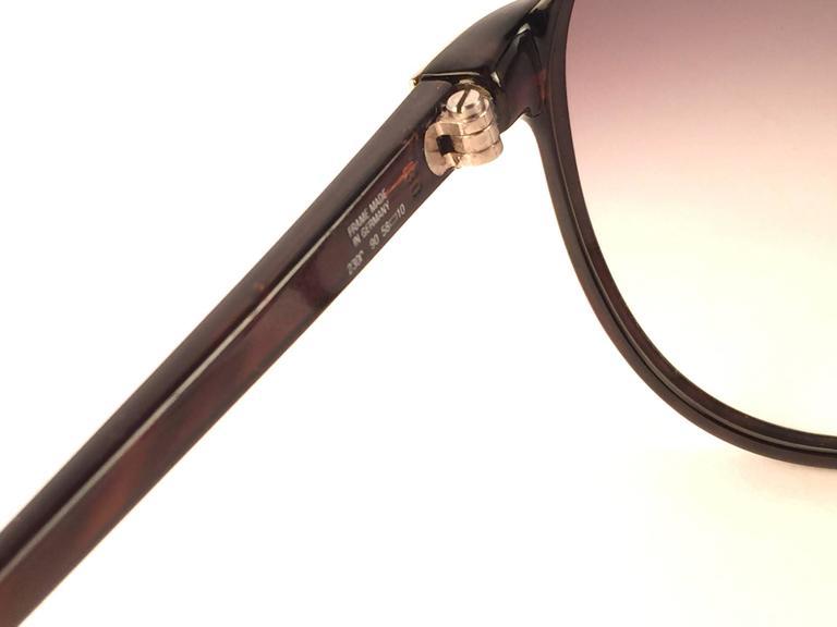 Women's or Men's New Vintage Christian Dior Monsieur 2300 90 Zebra Optyl 1970 Sunglasses For Sale