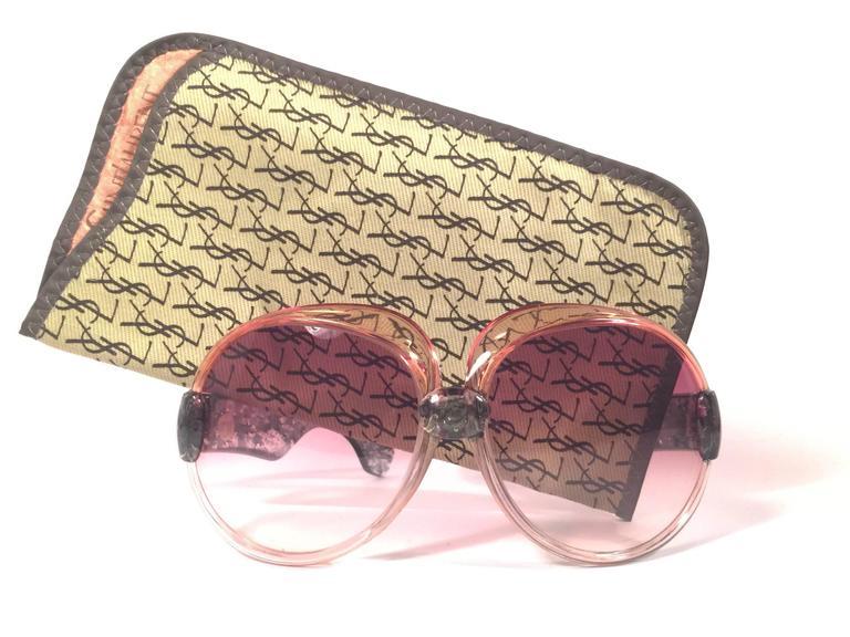 New Vintage Yves Saint Laurent YSL 543 Translucent Amber 1970 France Sunglasses  2