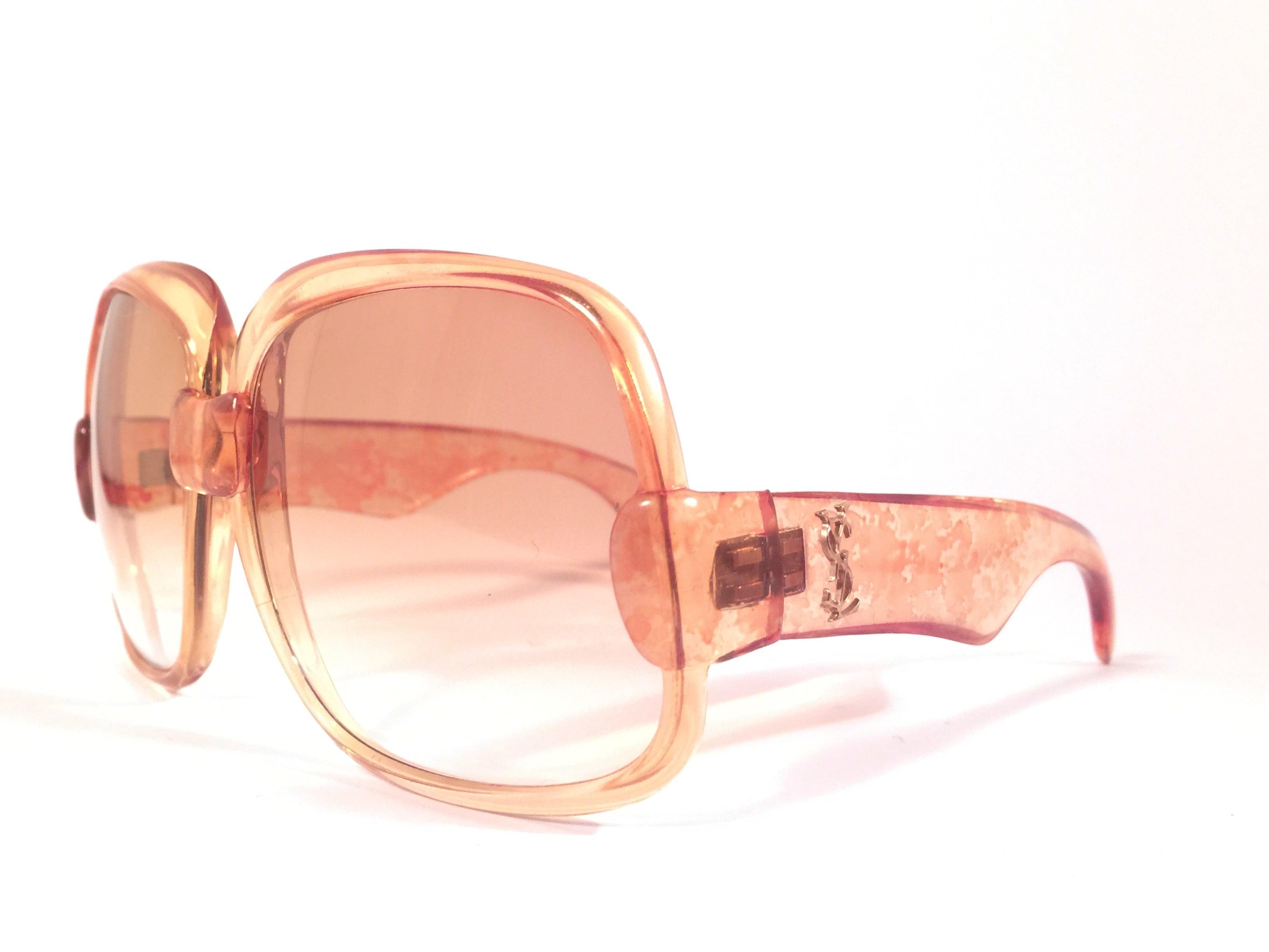61e5f2789b0 New Vintage Yves Saint Laurent YSL 545 Translucent Orange 1970 France  Sunglasses at 1stdibs