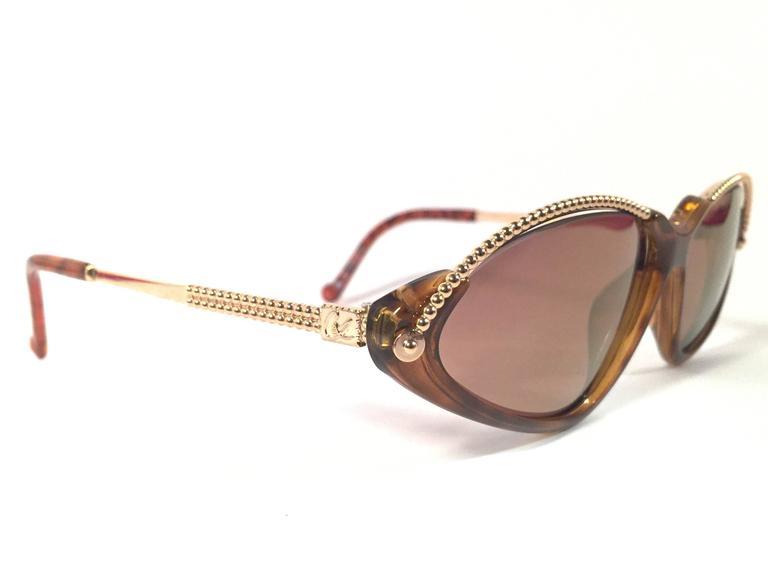 New Vintage Christian Lacroix Cat Eye 7346 1980's France Sunglasses 2