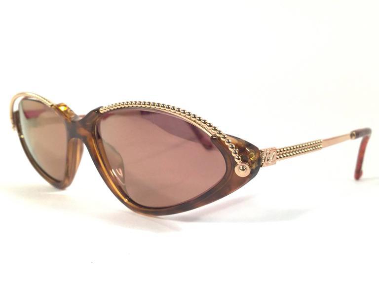 New Vintage Christian Lacroix Cat Eye 7346 1980's France Sunglasses 3