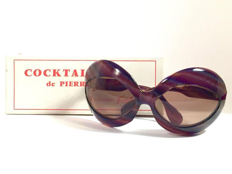 b3bcc90ecdf New Vintage Pierre Marly Cocktail Oversized Avantgarde 1960's Sunglasses