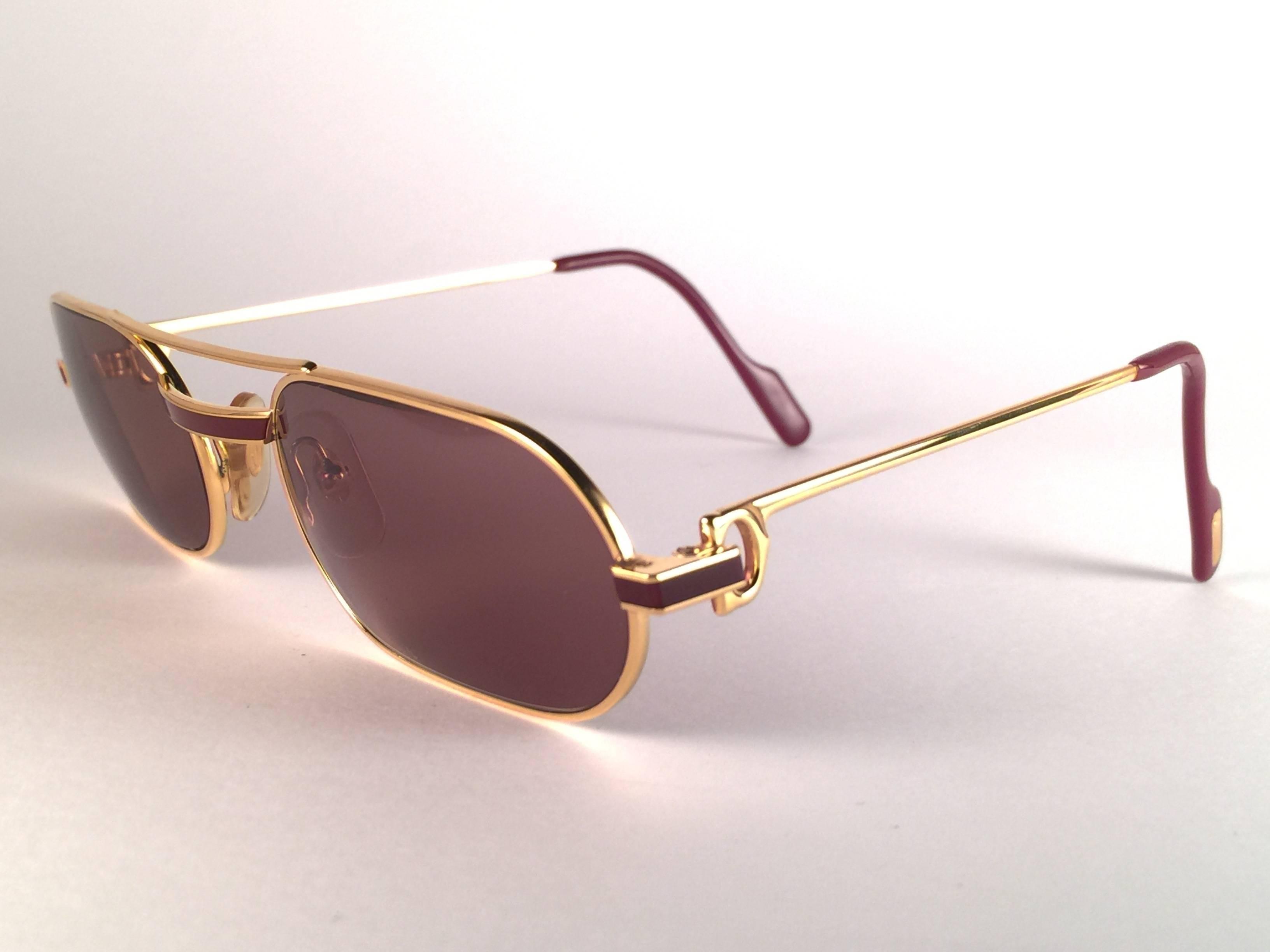 22e24973638a New Vintage Cartier Louis Laque De Chine Medium 55mm France Sunglasses at  1stdibs