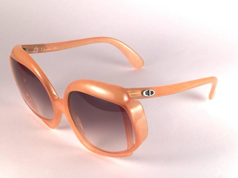 New Vintage Christian Dior 2026 30 Tangerine Optyl Sunglasses Germany In New Condition For Sale In Amsterdam, Noord Holland