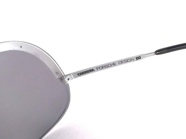 New Vintage Porsche Design 5620 Shield Collector Item 1980's Yoko Ono Sunglasses For Sale 1