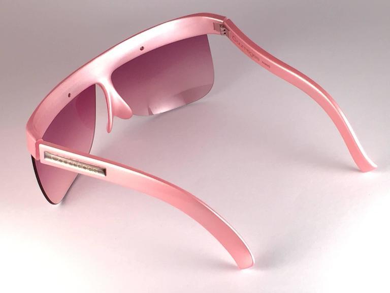 New Vintage Courreges Pearled Rose 7853 Grey Lenses 1970's France Sunglasses 6