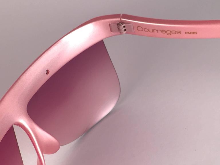 New Vintage Courreges Pearled Rose 7853 Grey Lenses 1970's France Sunglasses 5