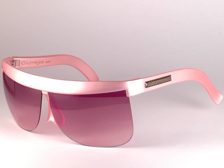 New Vintage Courreges Pearled Rose 7853 Grey Lenses 1970's France Sunglasses 3