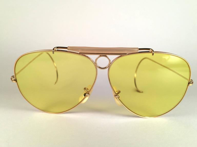c6cd0a159d5e5 New Vintage Ray Ban Shooter Kalichrome 62mm with iridescent white nose  pieces marked B L. B L