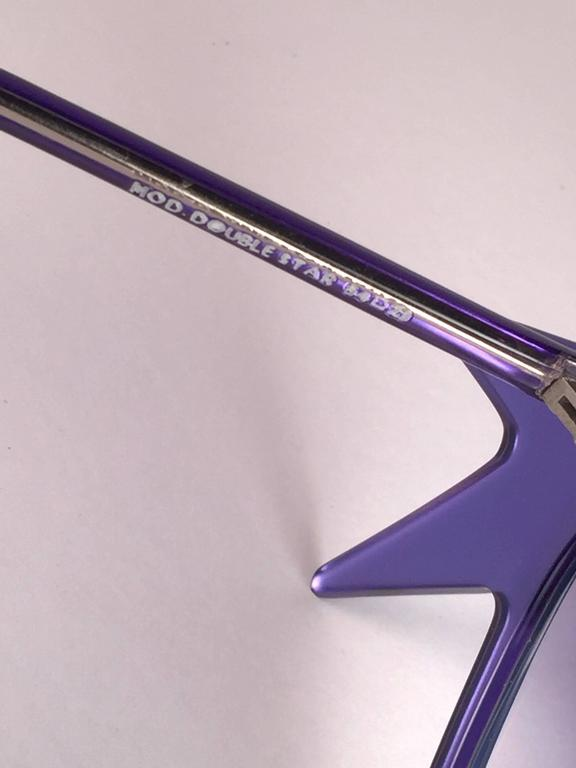 """New Vintage Anglo American Optical """" Double Star """" Two Tone Blue Sunglasses 1970 For Sale 1"""
