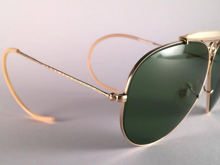 c9c420945e51 Brown New Ray Ban Shooter 1950 s Classic 12K Gold Filled Collectors B L USA  Sunglasses ...