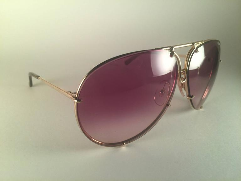 a55b34eed1c8 Black New Vintage Porsche Design By Carrera 5623 Gold Large Sunglasses  Austria For Sale