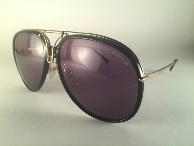 de975a7fb24b0 New Vintage Porsche Design By Carrera 5632 Gold Changeable Front Sunglasses  For Sale 2