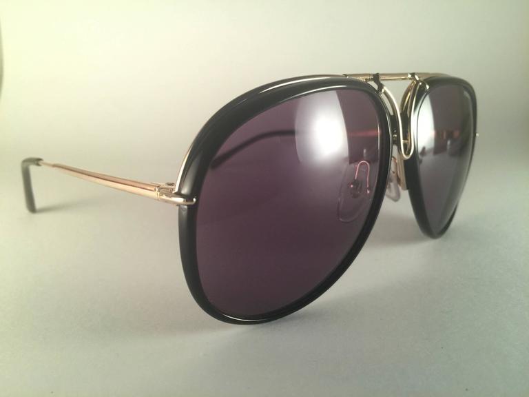 21de29edd8cfe New Vintage Porsche Design By Carrera 5632 Gold Changeable Front Sunglasses  For Sale 1