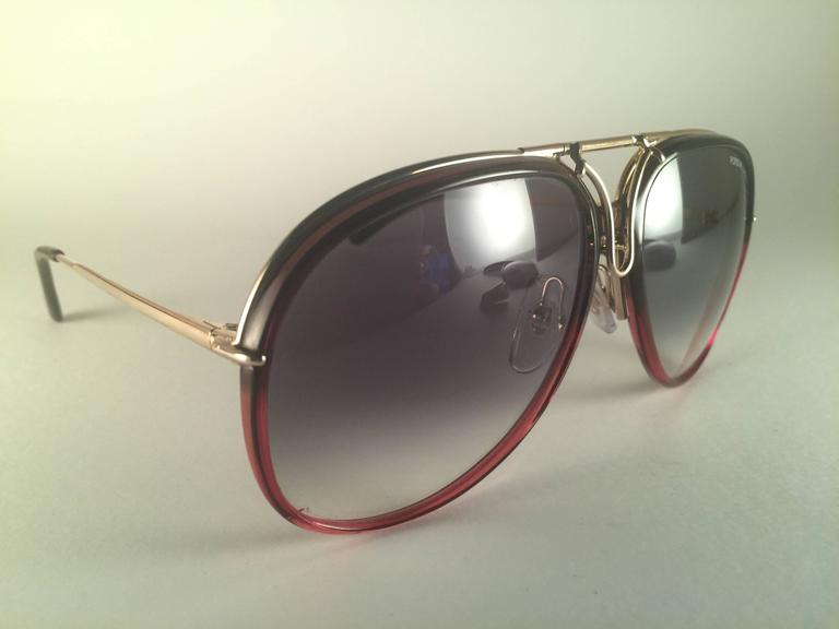 97615271e3009 New Vintage Porsche Design By Carrera 5632 Gold Changeable Front ...