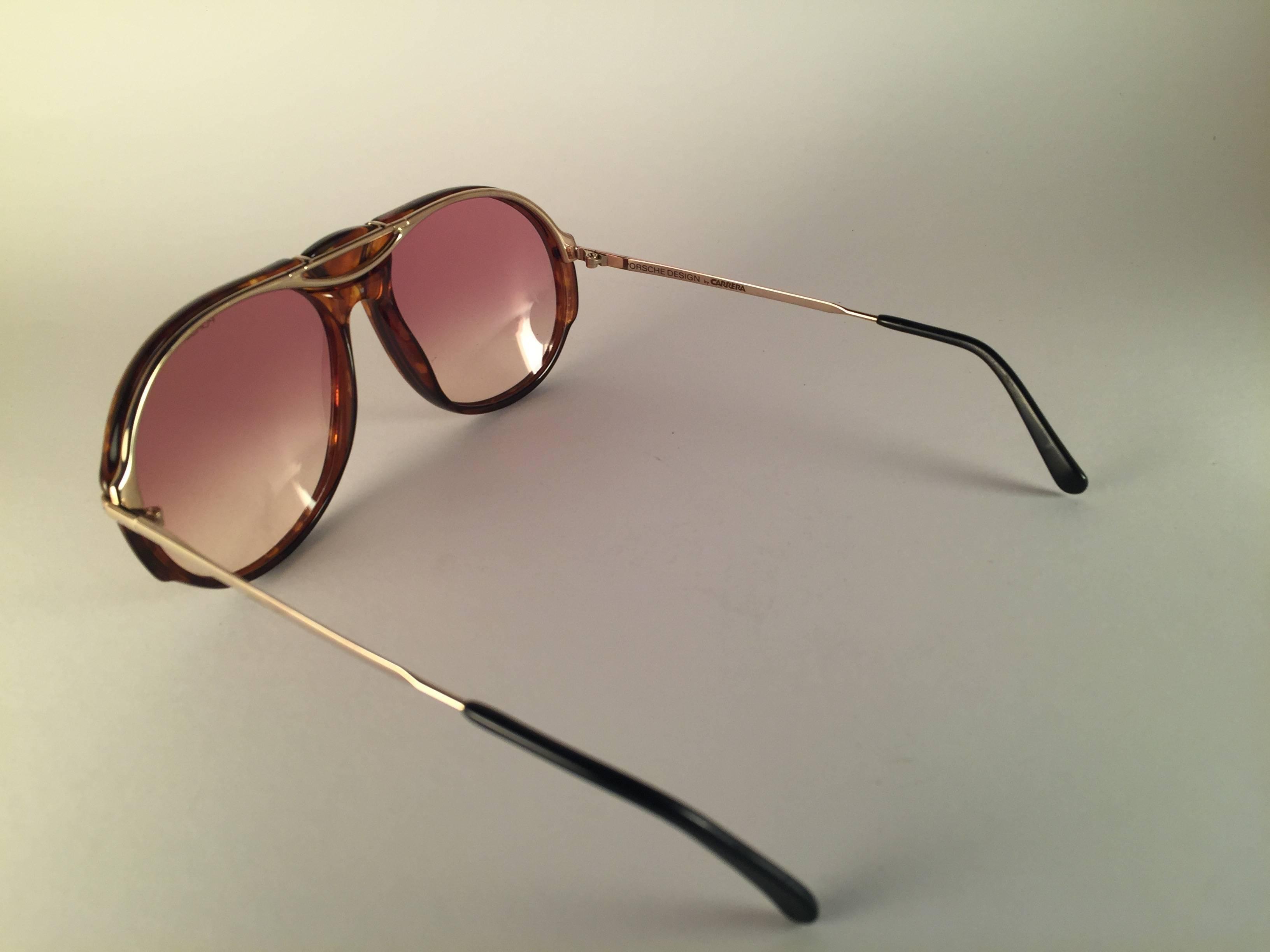 c73060a16161 New Vintage Porsche Design By Carrera 5659 Tortoise Large Sunglasses Austria  For Sale at 1stdibs