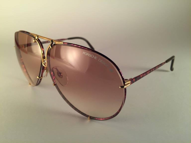 New Vintage Porsche 5623 Tortuga and Gold Frame 1980s ...