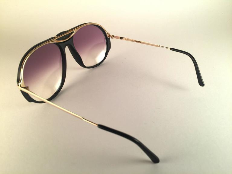 4f0daa7250ca New Vintage Porsche Design By Carrera 5659 Black Gold Large Sunglasses  Austria For Sale 1