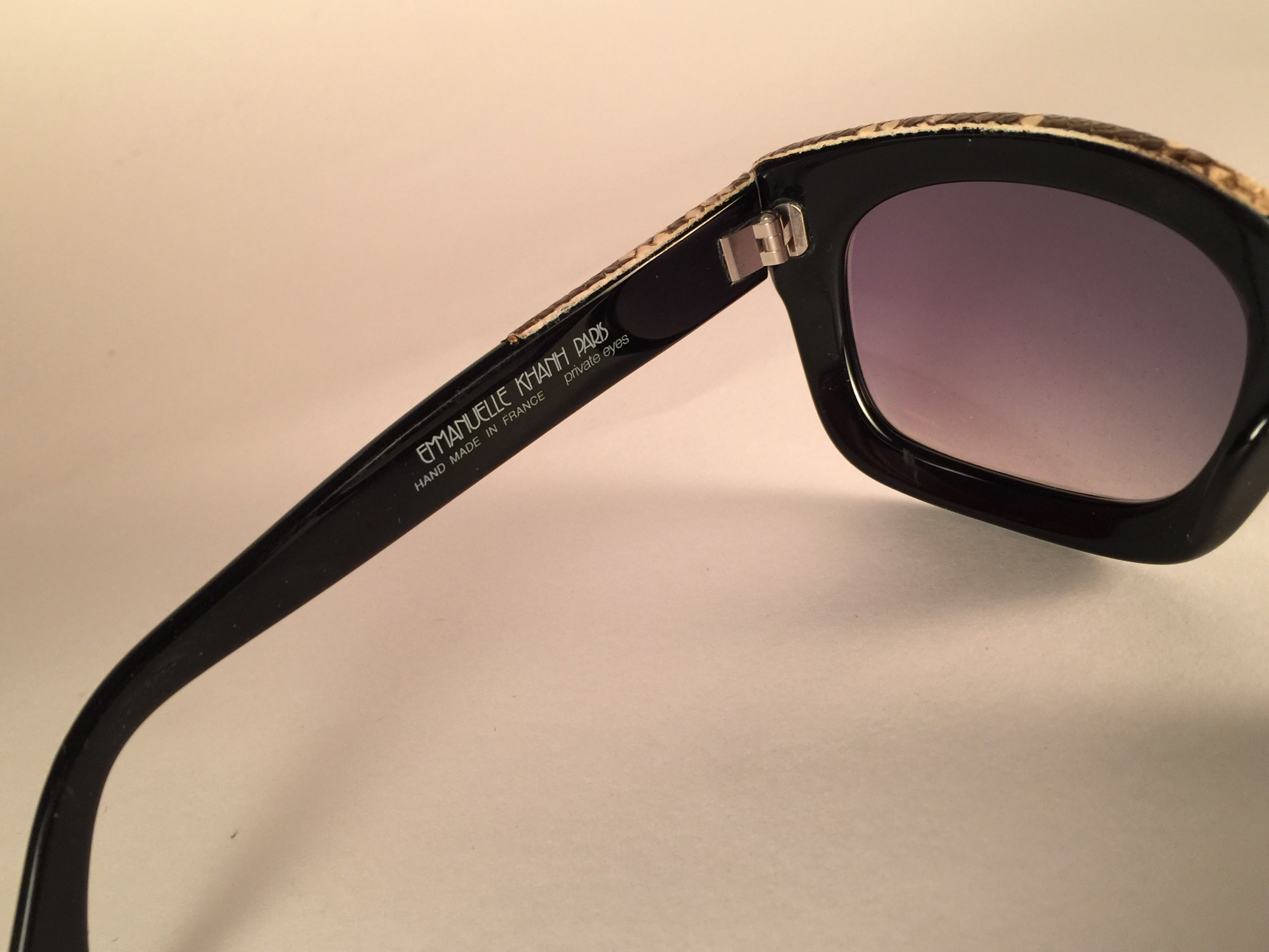 f7f0388f23c New vintage emanuelle kahn paris genuine python and black sunglasses france  at stdibs jpg 3264x2448 Emmanuel
