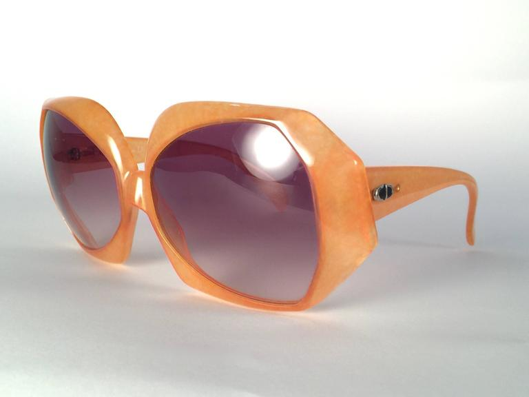Brown New Vintage Christian Dior 2025 30 Jaspe Amber Jerry Hall Optyl Sunglasses For Sale