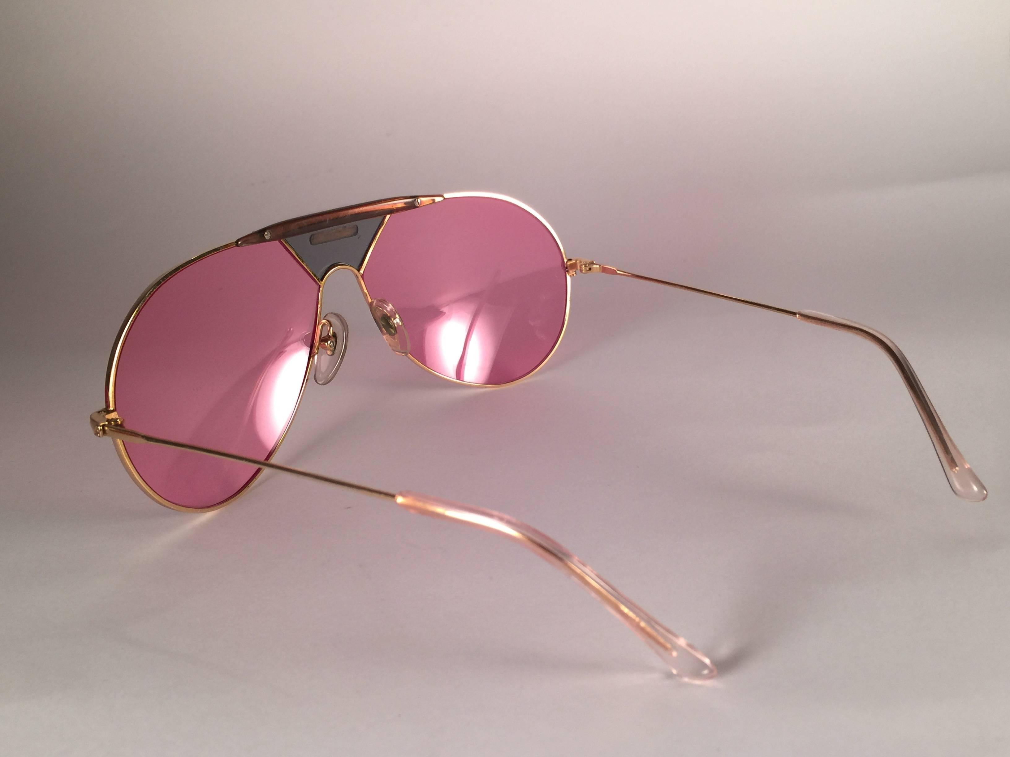 471866a8b48a3c New Vintage Alpina TR4 Aviator Gold and Green Miami Vice Don Johnson  Sunglasses at 1stdibs