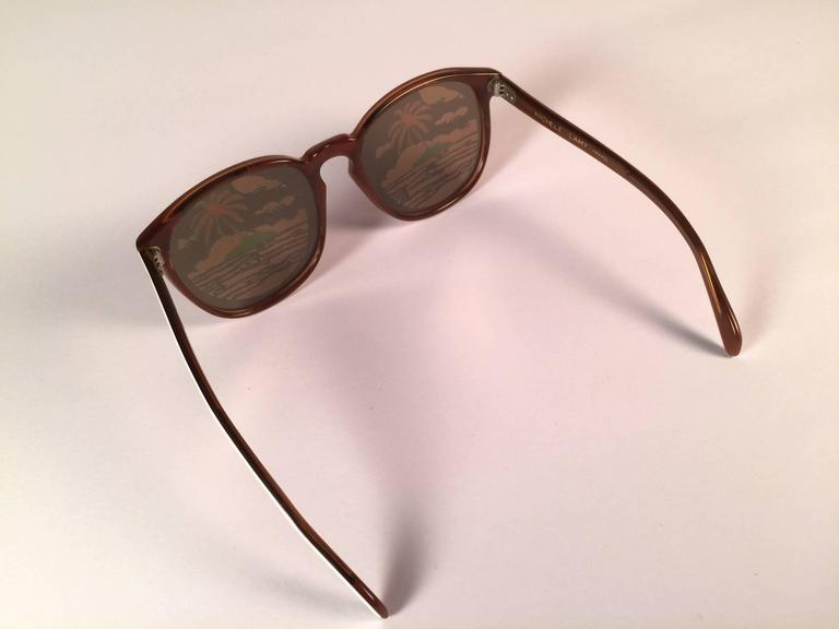 Women's or Men's New Vintage Michele Lamy Rare White Frame Mirror Print Rick Owens Sunglasses  For Sale
