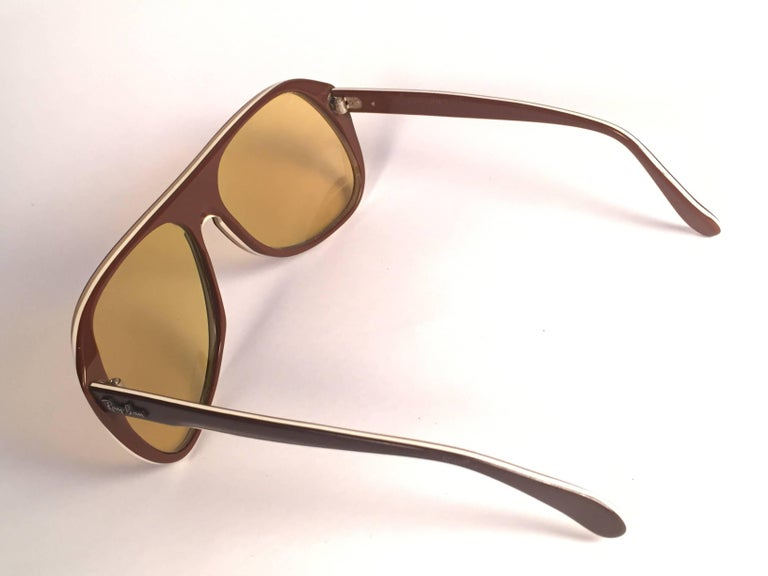 a41d26f9a8 New Vintage Ray Ban B L Timberline Ambermatic Mirror Lenses Sunglasses USA  For Sale at 1stdibs