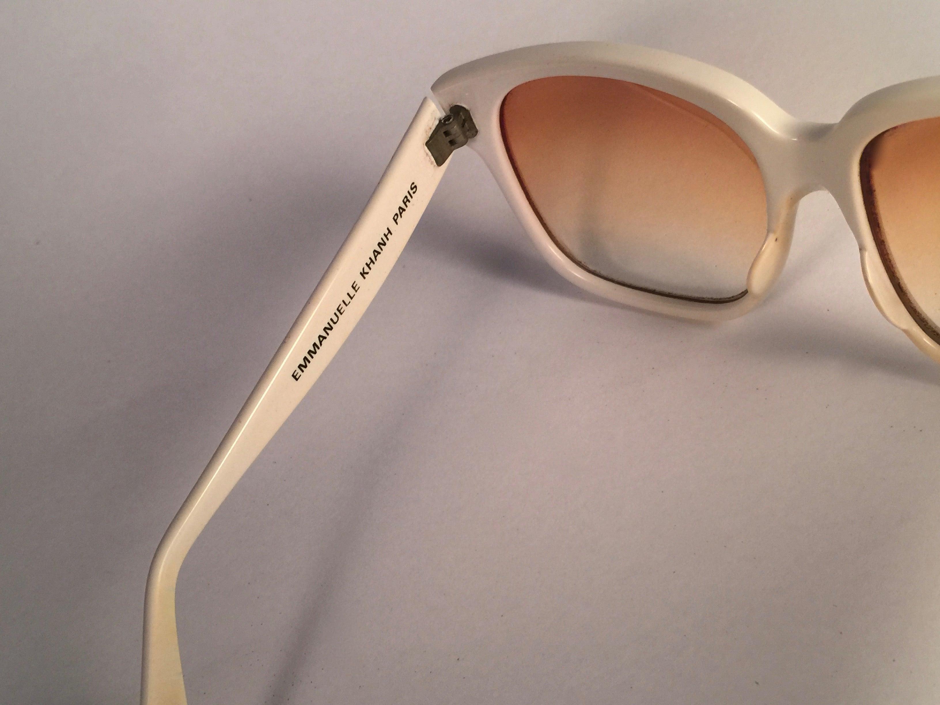 cb3b77a294e New vintage emanuelle kahn paris white gold accents sunglasses france for  sale at stdibs jpg 3264x2448