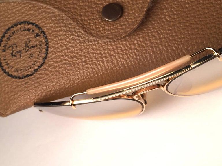 287406d9e18 Vintage B l Ray Ban Ambermatic Aviator Sunglasses