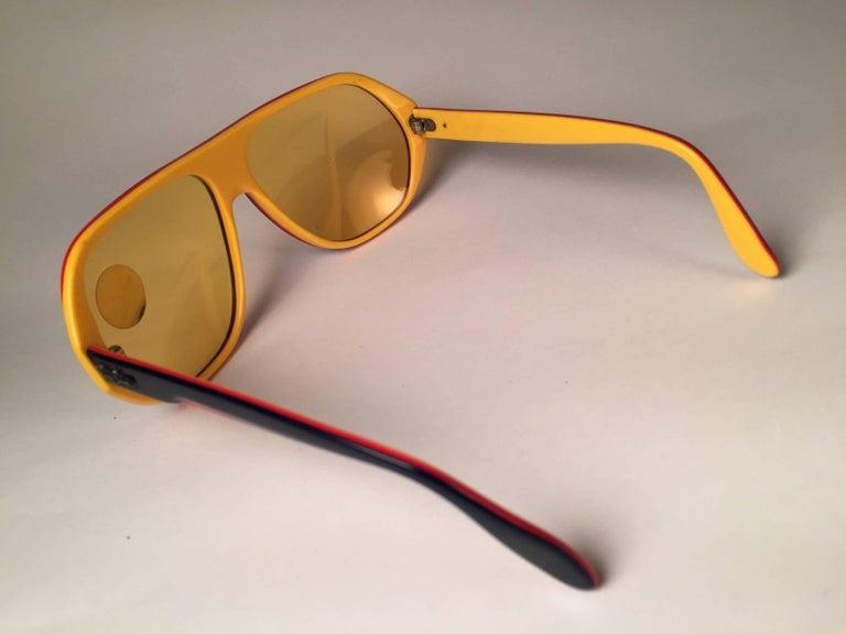 Women's or Men's New Vintage Ray Ban B&L Blazer Ambermatic Mirror Lenses Sunglasses USA For Sale