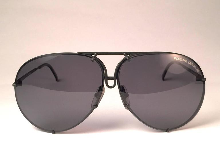 0a5441d0a8f5 New 1980 s Porsche Design 5623 black Matte frame with grey lenses. Amazing  craftsmanship and quality