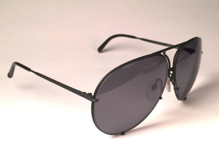 512d7ad0bc84 New Vintage Porsche Design By Carrera 5623 Black Matte Large Sunglasses  Austria In New Condition For
