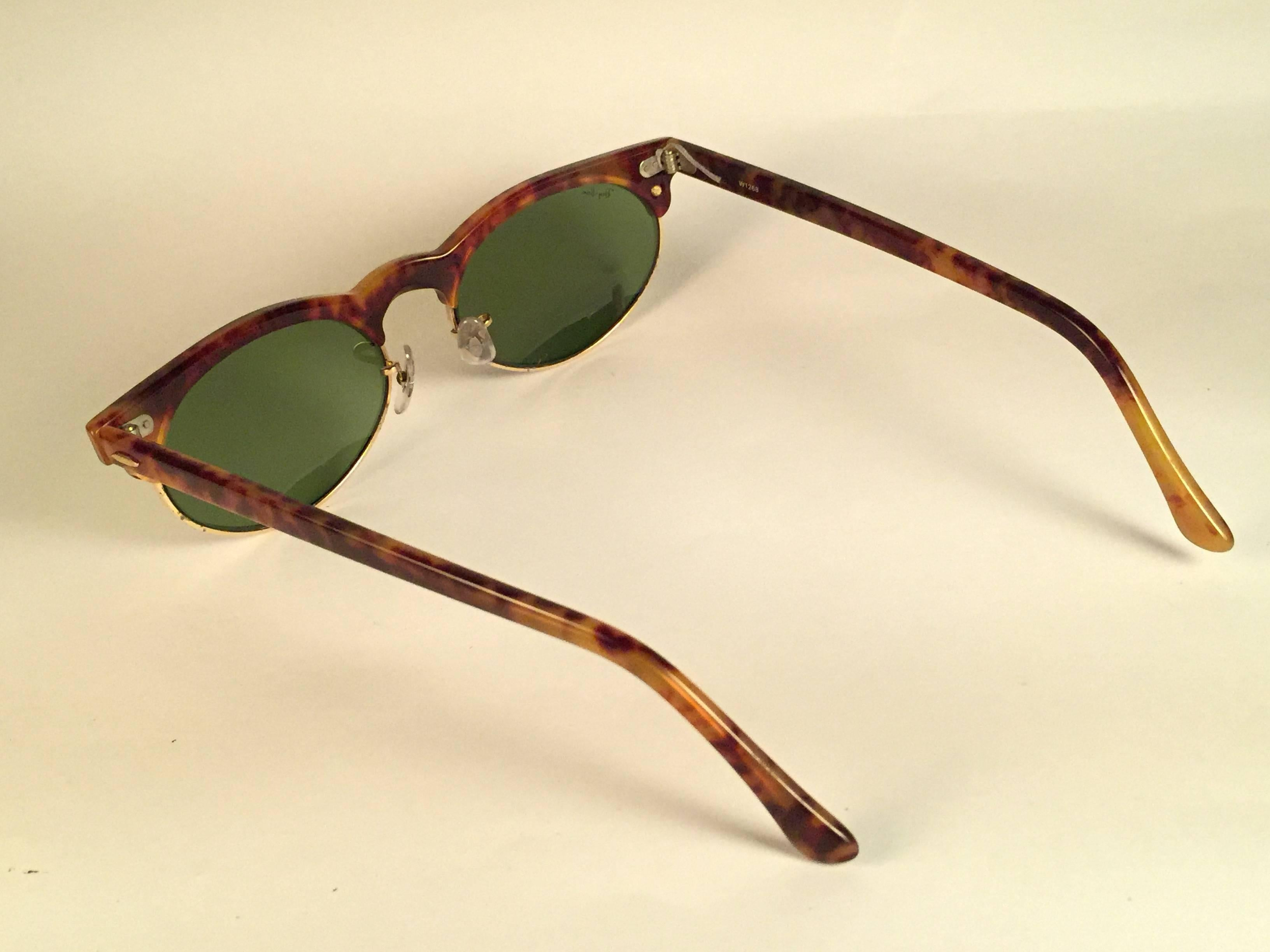 7b5b1d0920 ... get new vintage ray ban bl clubmaster tortoise gold oval rb3 lenses  sunglasses usa in new