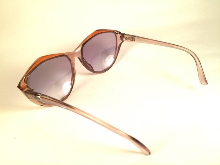 Beige New Vintage Christian Dior 2234 Translucent Oversized Optyl Sunglasses For Sale
