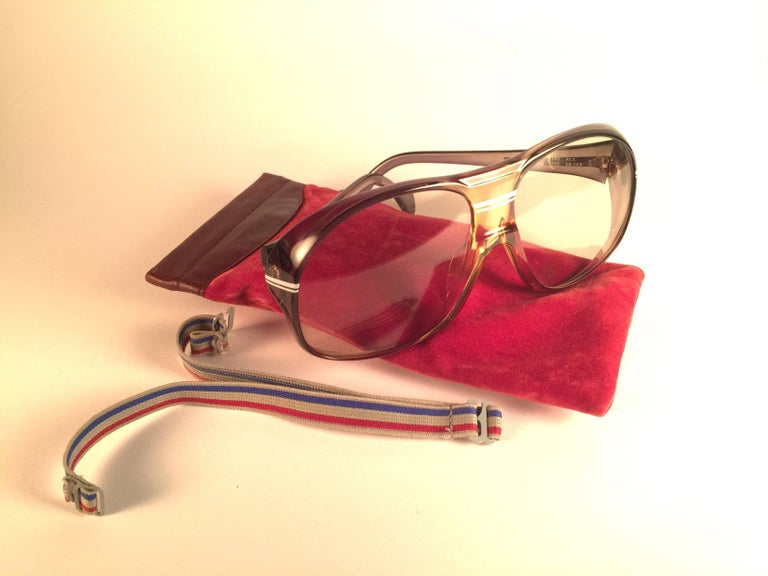 Men's New Vintage Zeiss Marwitz Clear Green Light Lens Made W. Germany 1970 Sunglasses For Sale